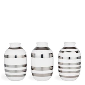 Omaggio Vas miniatyr 3-pack Silver