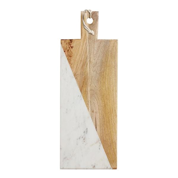 Gourmet Prep & Serve Bräda rektangulär 49,5x18 cm Mango/Marmor