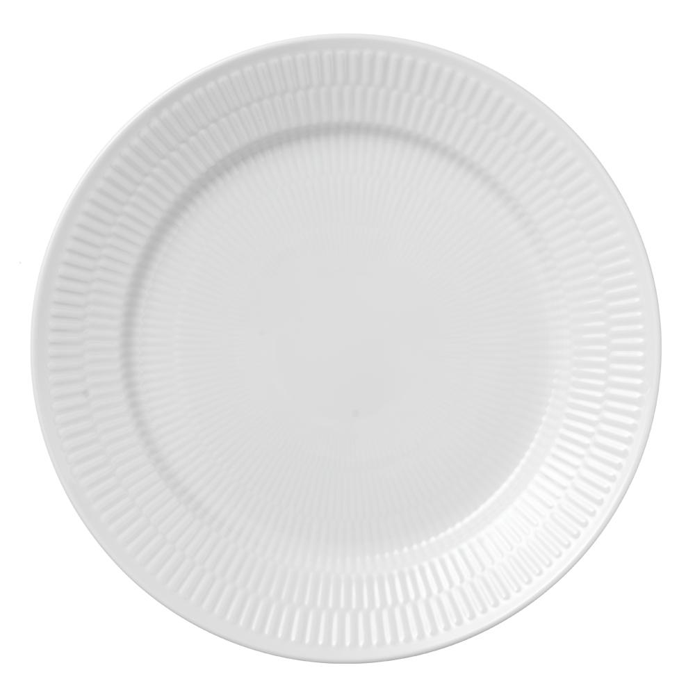 White Fluted Tallrik flat 27 cm