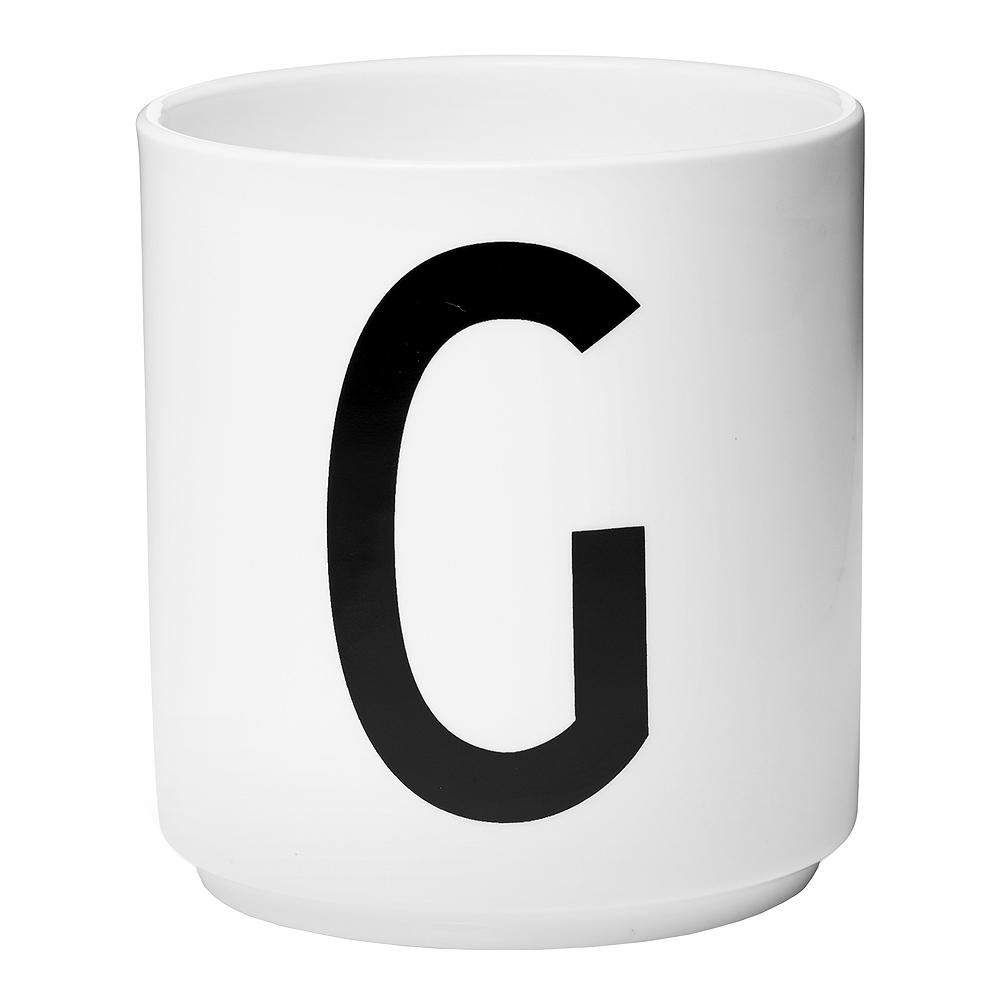 Design Letters Mugg G Vit