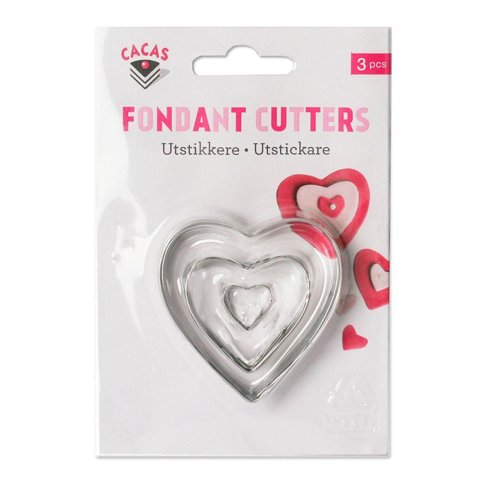 Utstickare hjärta set 3 delar