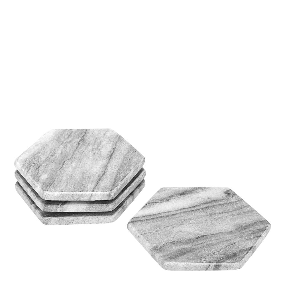 Rumours Glasunderlägg 4-pack Grå marmor