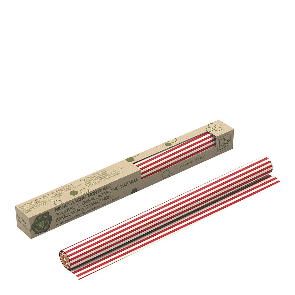 Bivaxduk Rulle Ränder 30×90 cm Röd