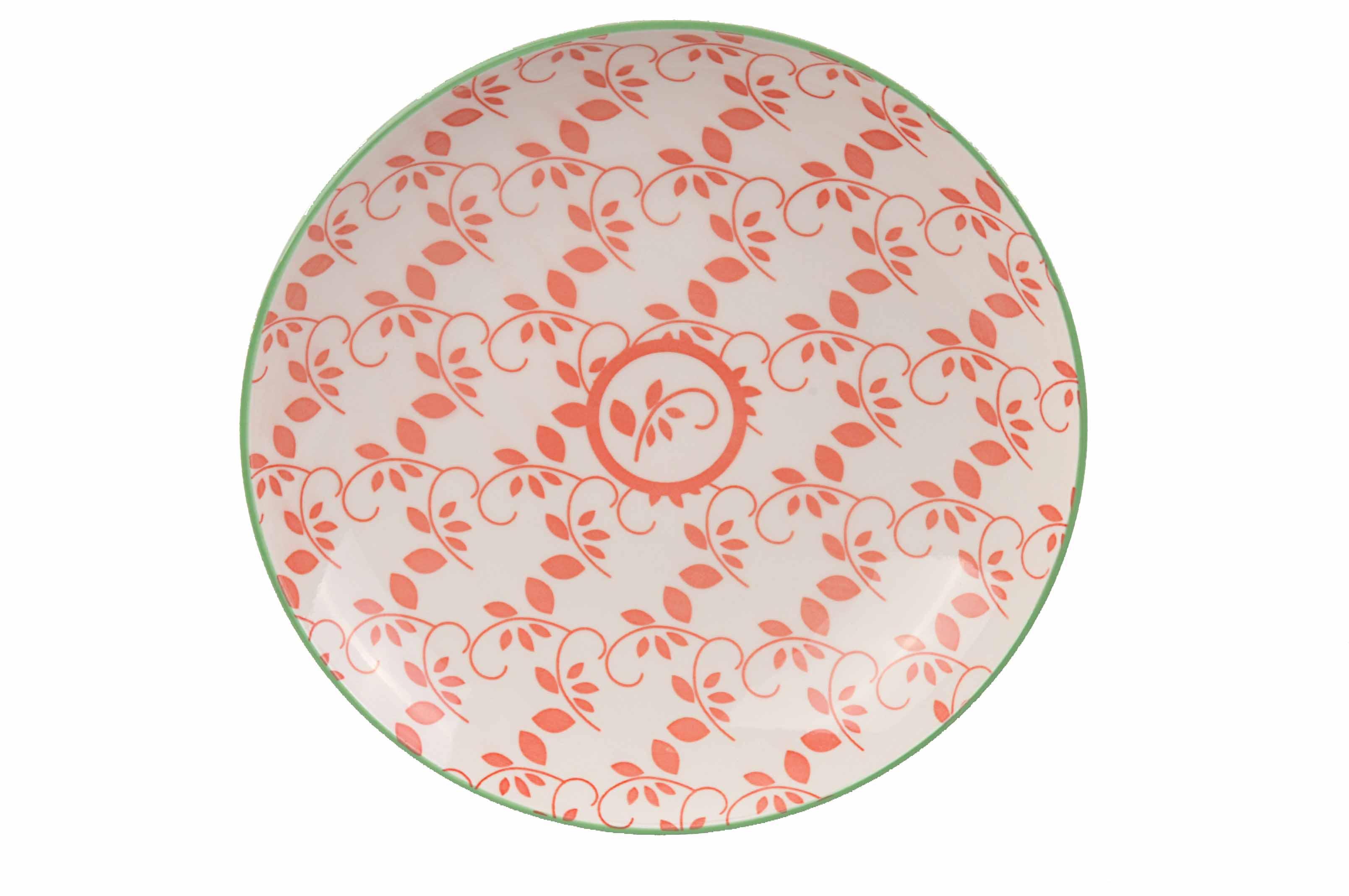 Oriental Tallrik 21,5 cm Vit/Röd