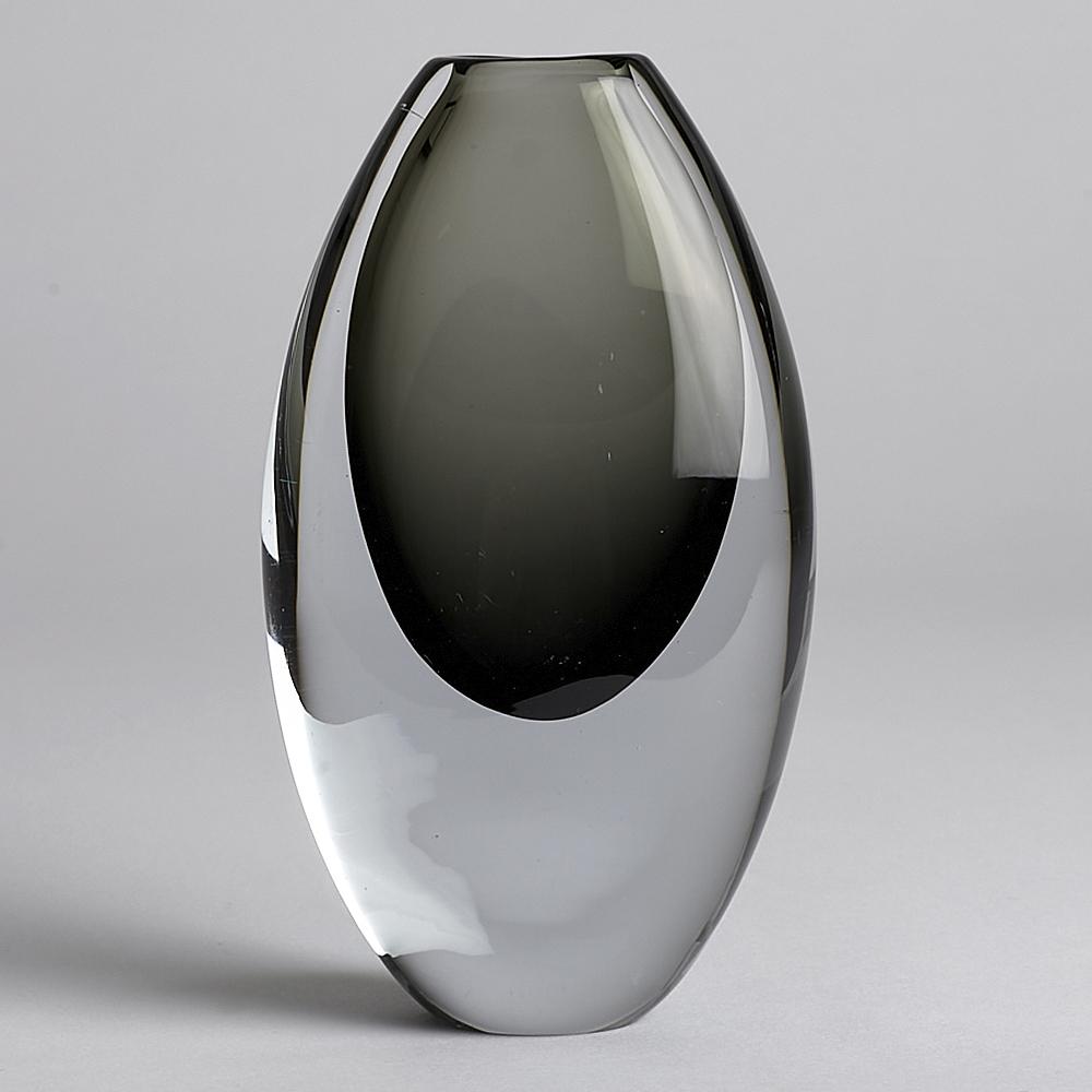 SÅLD Vintage Vas 15 cm Grå