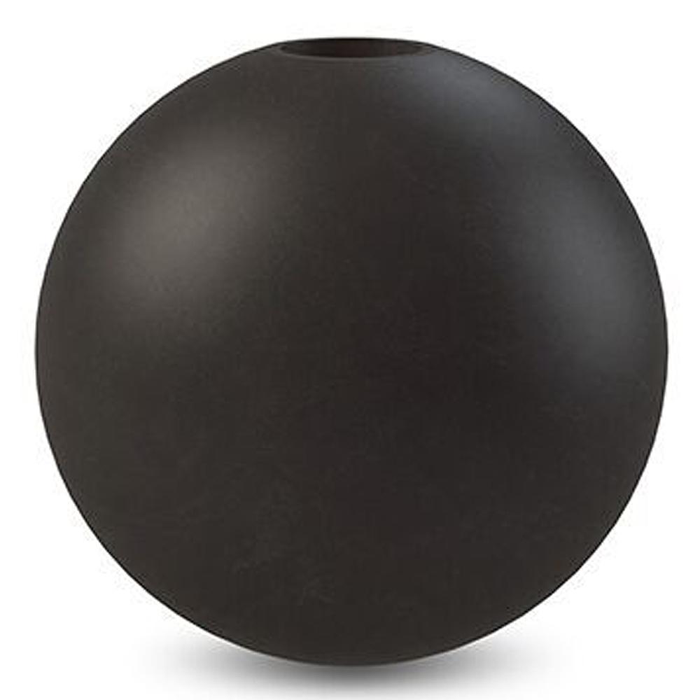 Ball Ljusstake Svart 10 cm
