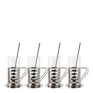 Irish Coffeeset Rostfri 12 delar