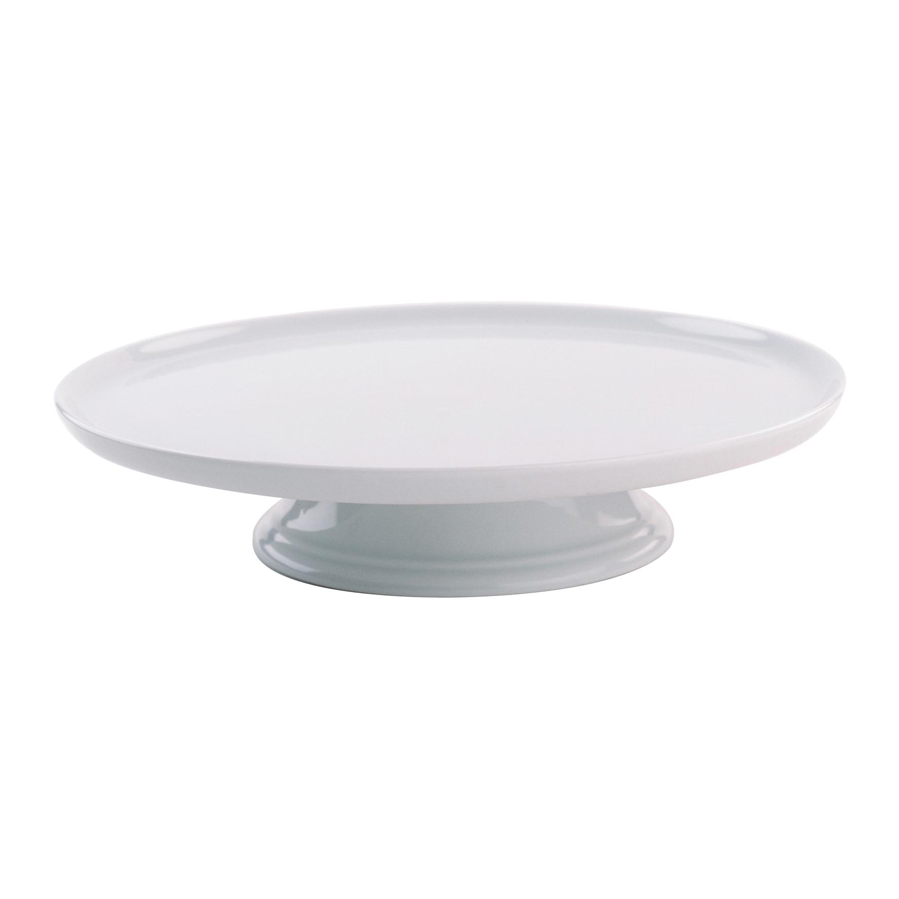 Pillivuyt vitt Tårtfat på fot 30 cm