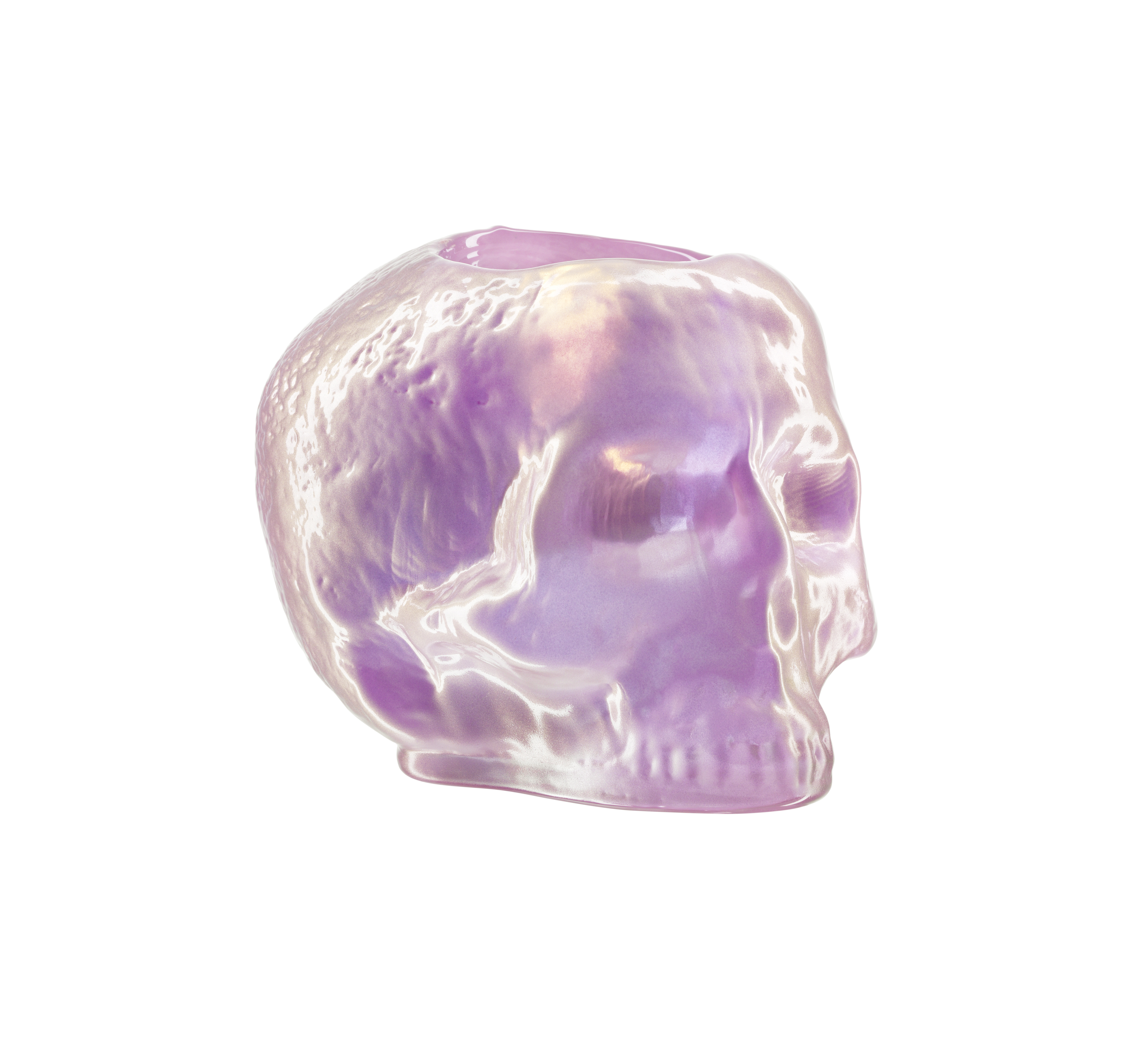 Still Life Lykta Skull 11,5cm Ljusrosa