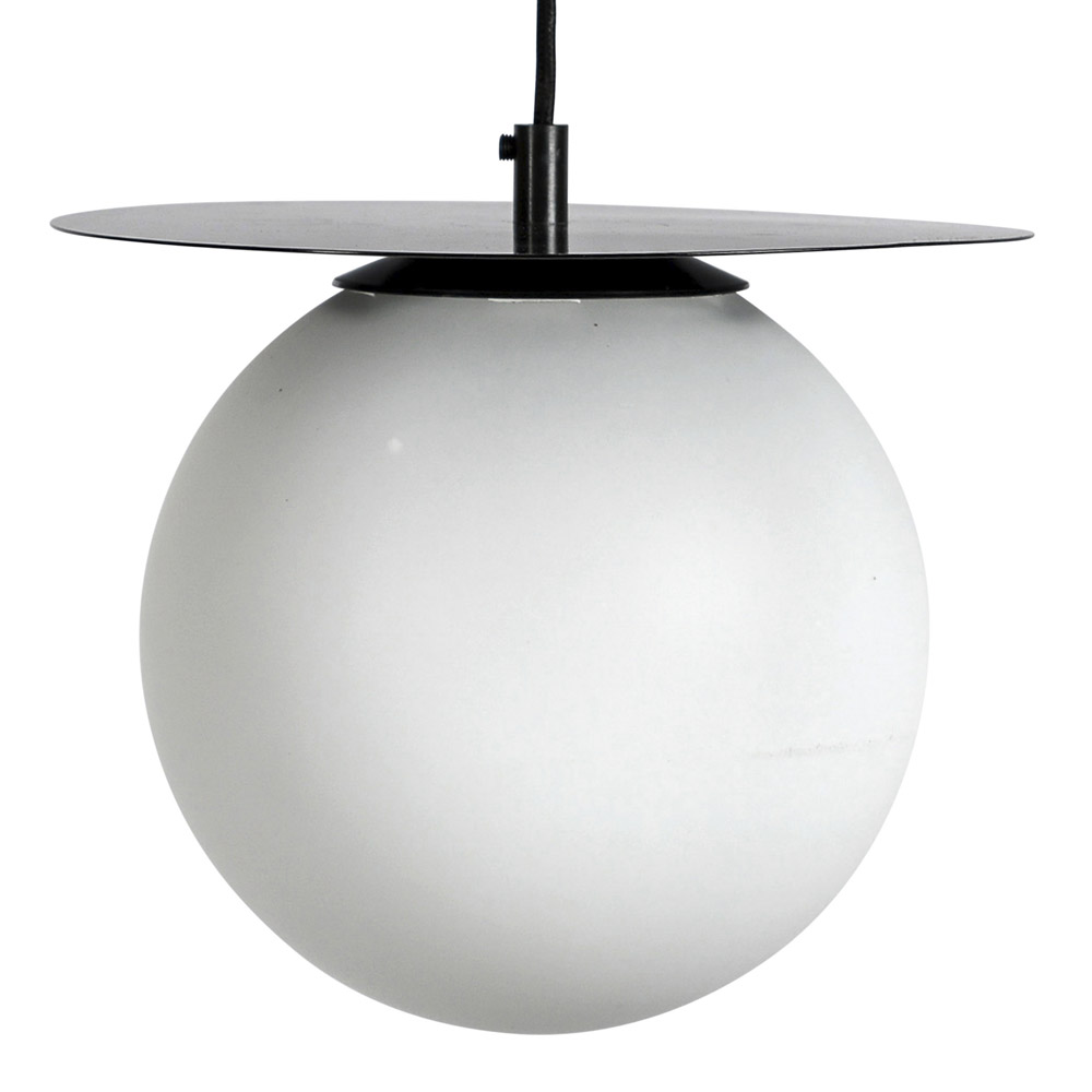 Lush Globe Taklampa 27 cm Svart/vit