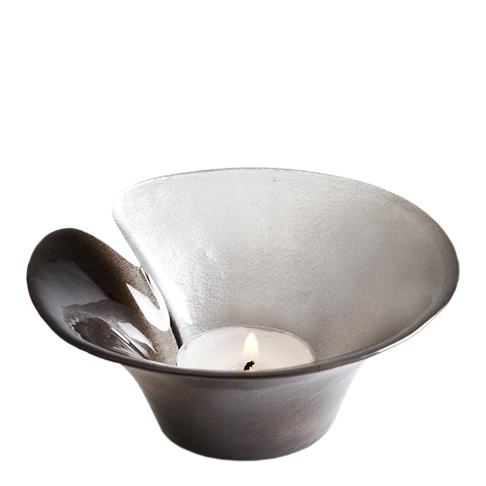 Målerås Glasbruk Silver Magic Lyslykt 11,5 cm Sølv/svart