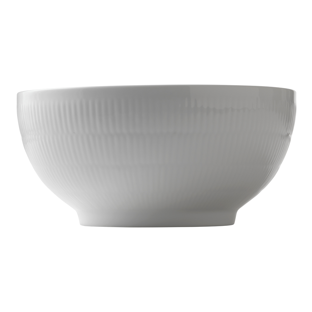 White Fluted Skål 31 L 24 cm