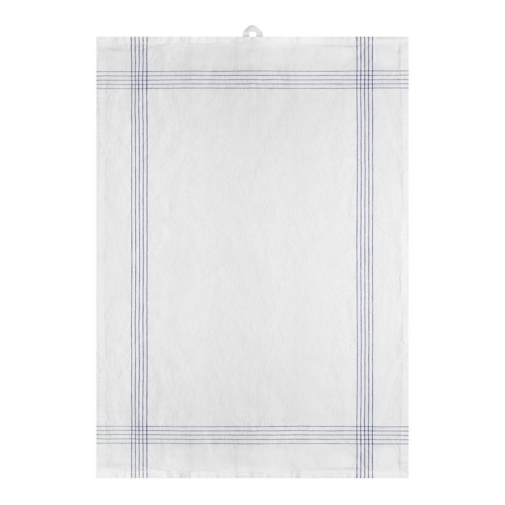 Signerat Handduk 50x70 cm Blå smal rand