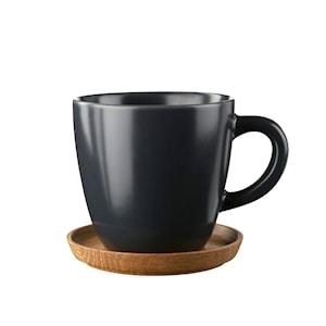 Kaffemugg med träfat 30 cl Grafitgrå