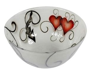 Crystal Ink Skål Heart 25 cm