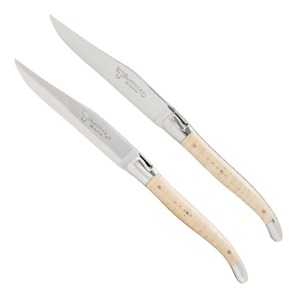 Stekkniv 2-pack Lönn/Rostfri
