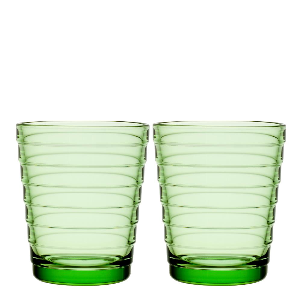 Aino Aalto Glas 22 cl  2-pack Äppelgrön