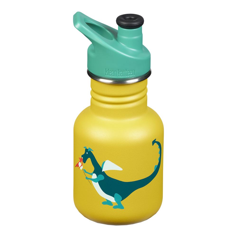 Kids Classic Sport Flaska 355 ml Dragon Snack Gul