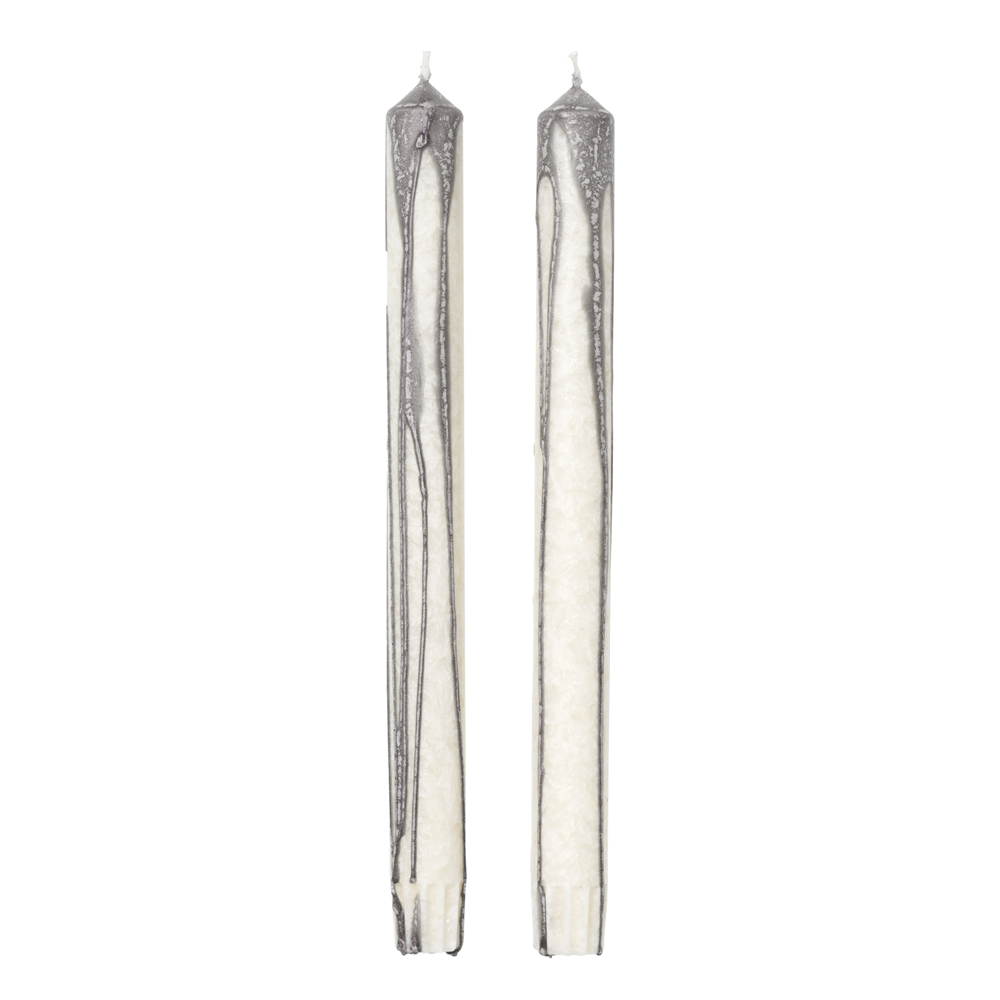 Duo Candle Ljus 26 cm 2-pack Warm Grey