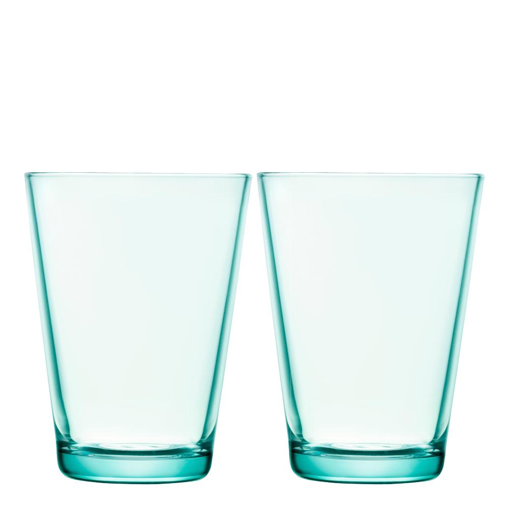 Iittala Kartio Glass 40 cl 2-pk Vanngrønn
