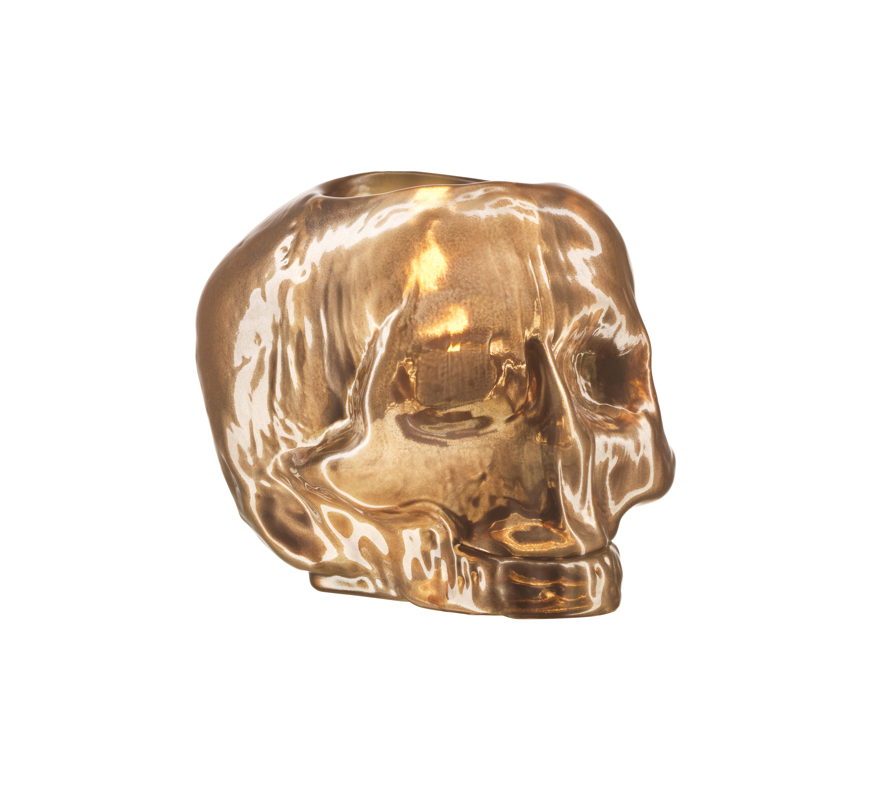 Still Life Lykta Skull 11,5cm Koppar
