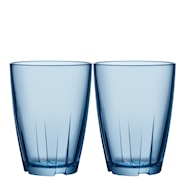 Bruk Dricksglas 35 cl 2-pack Water blue