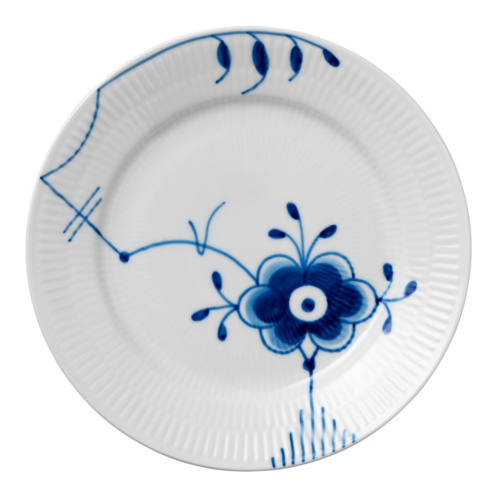 Blue Fluted Mega Tallrik flat 19 cm dekor 6