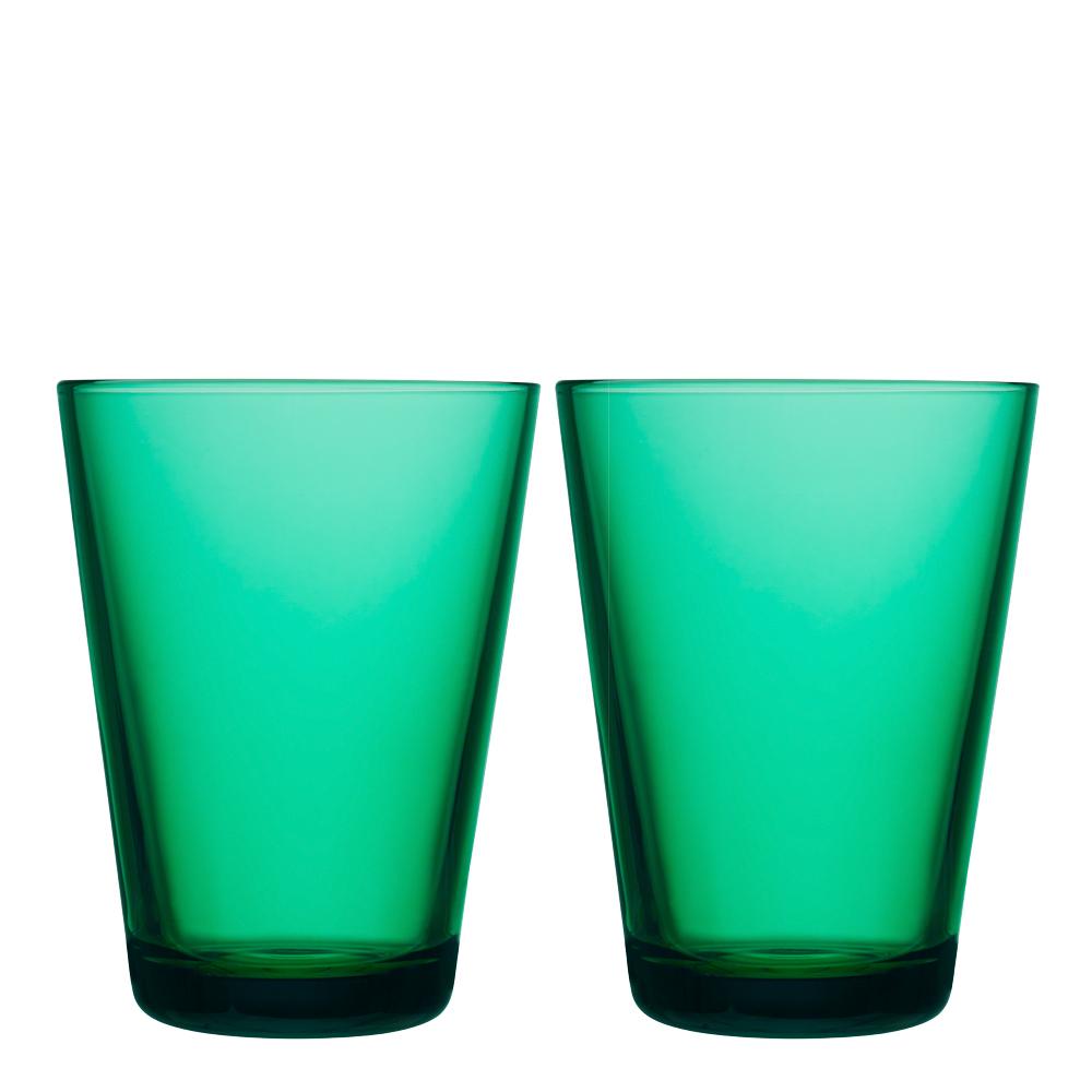 Kartio Dricksglas 40 cl 2-pack Smaragd