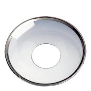 Ljusmanchett 6,5 cm Klar/silverkant