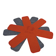 Stekpanneskydd 2-pack Röd/Grå