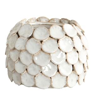 Dot Vas 10 cm Vit keramik