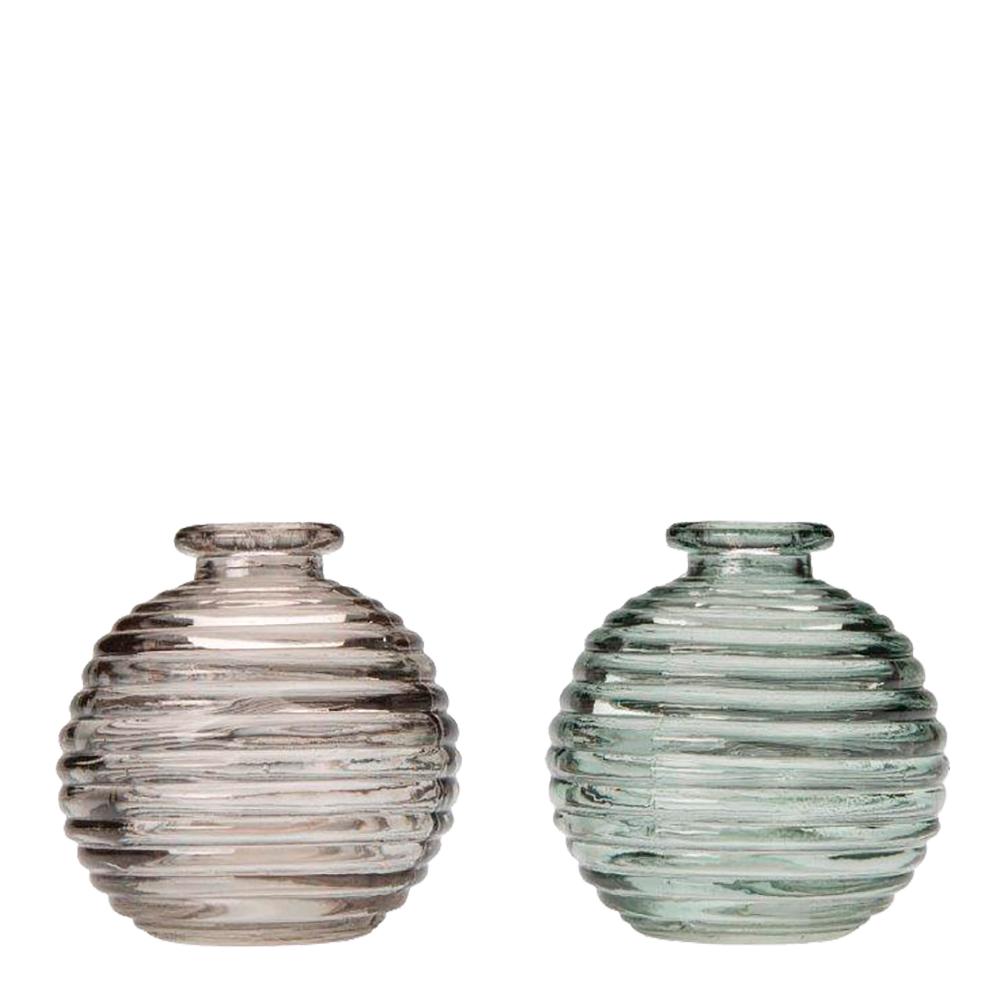 Isa Vas Rök/grön SORTERAD glas