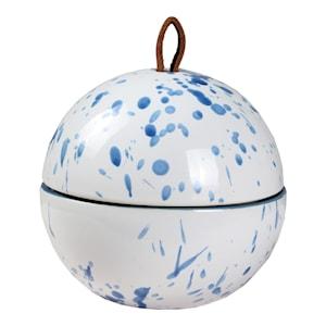 Stänk Ask boll 13x12 cm Vit/Blå