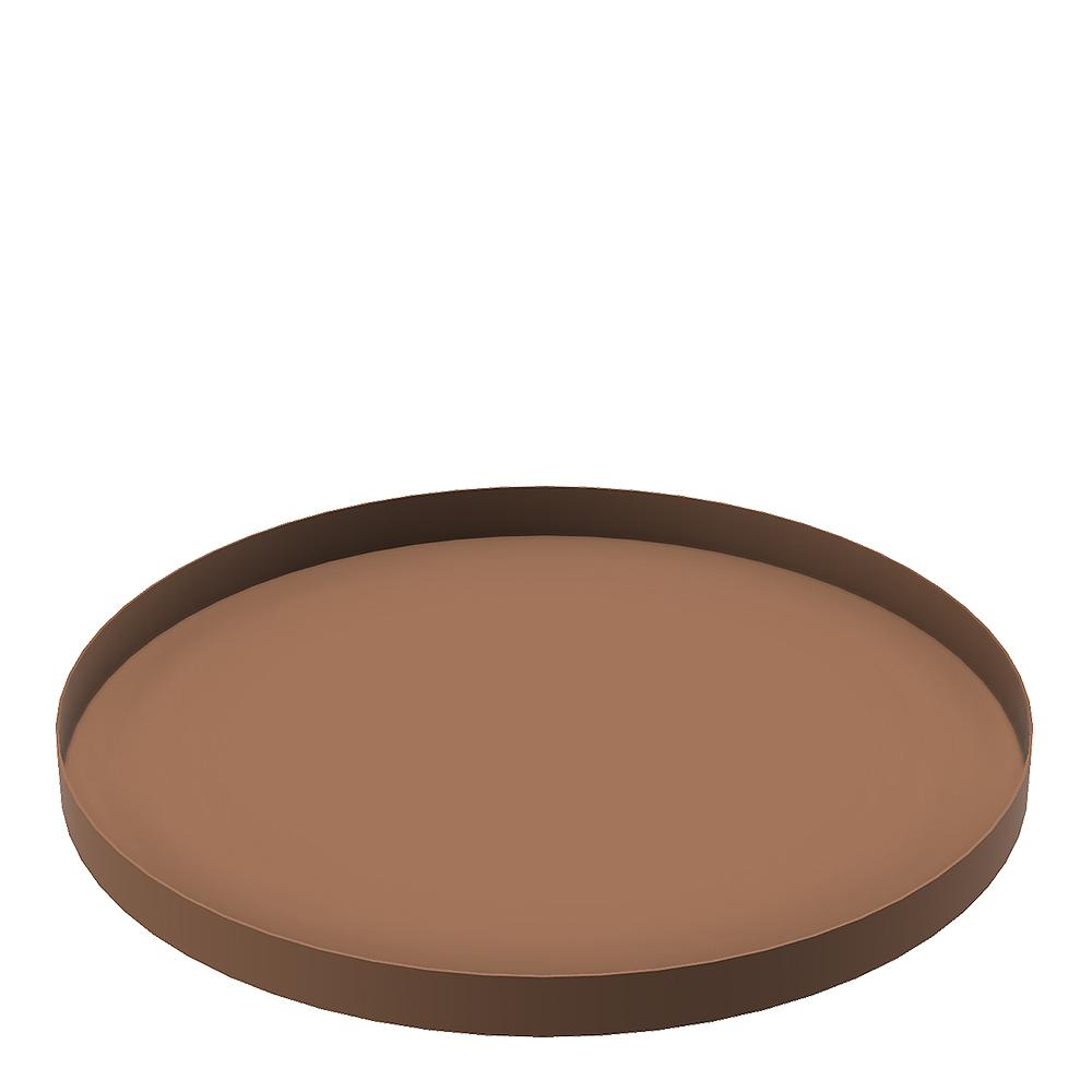 Tray Circle Fat 30 cm Coconut
