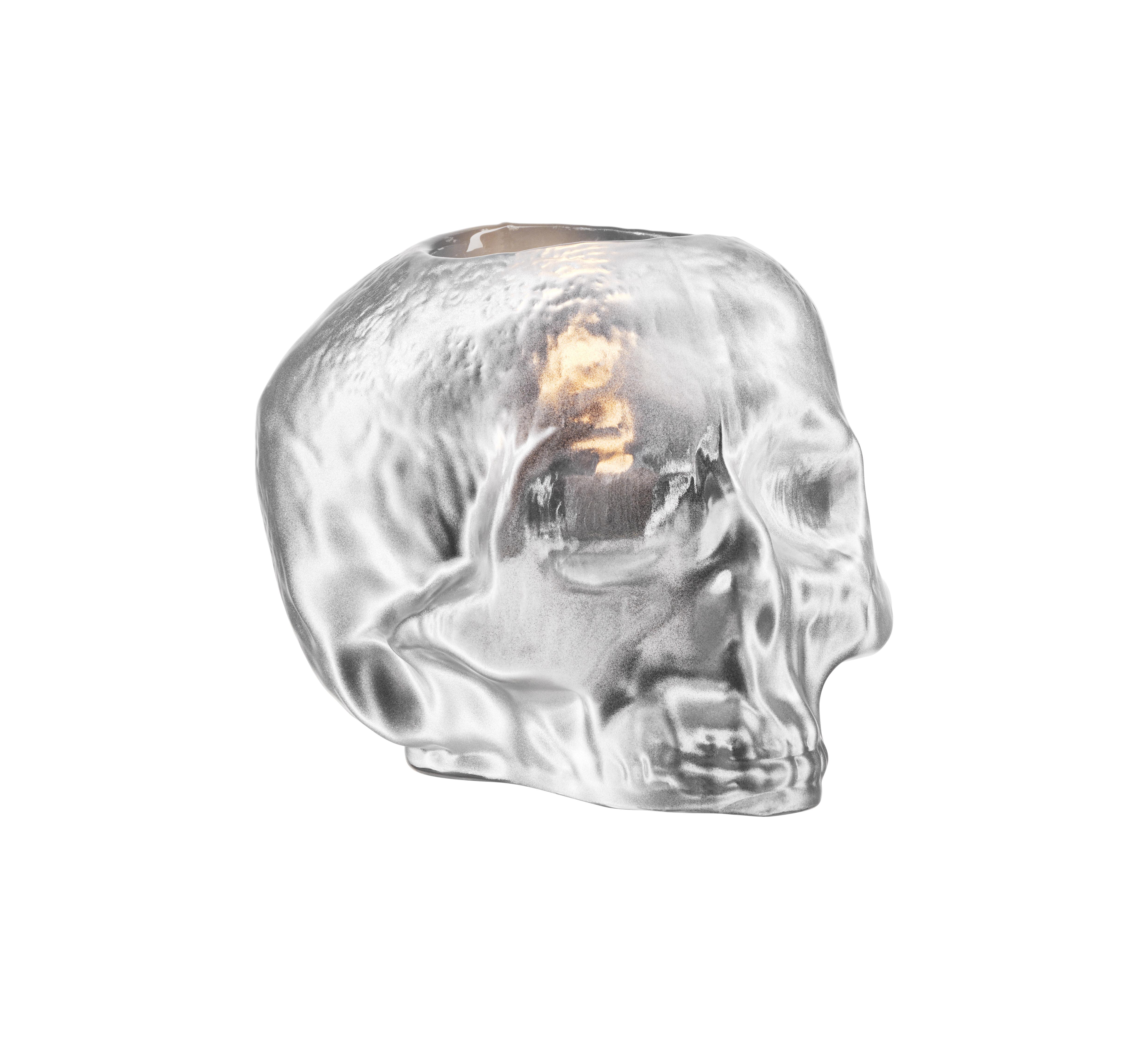 Still Life Lykta Skull 11,5cm Silver