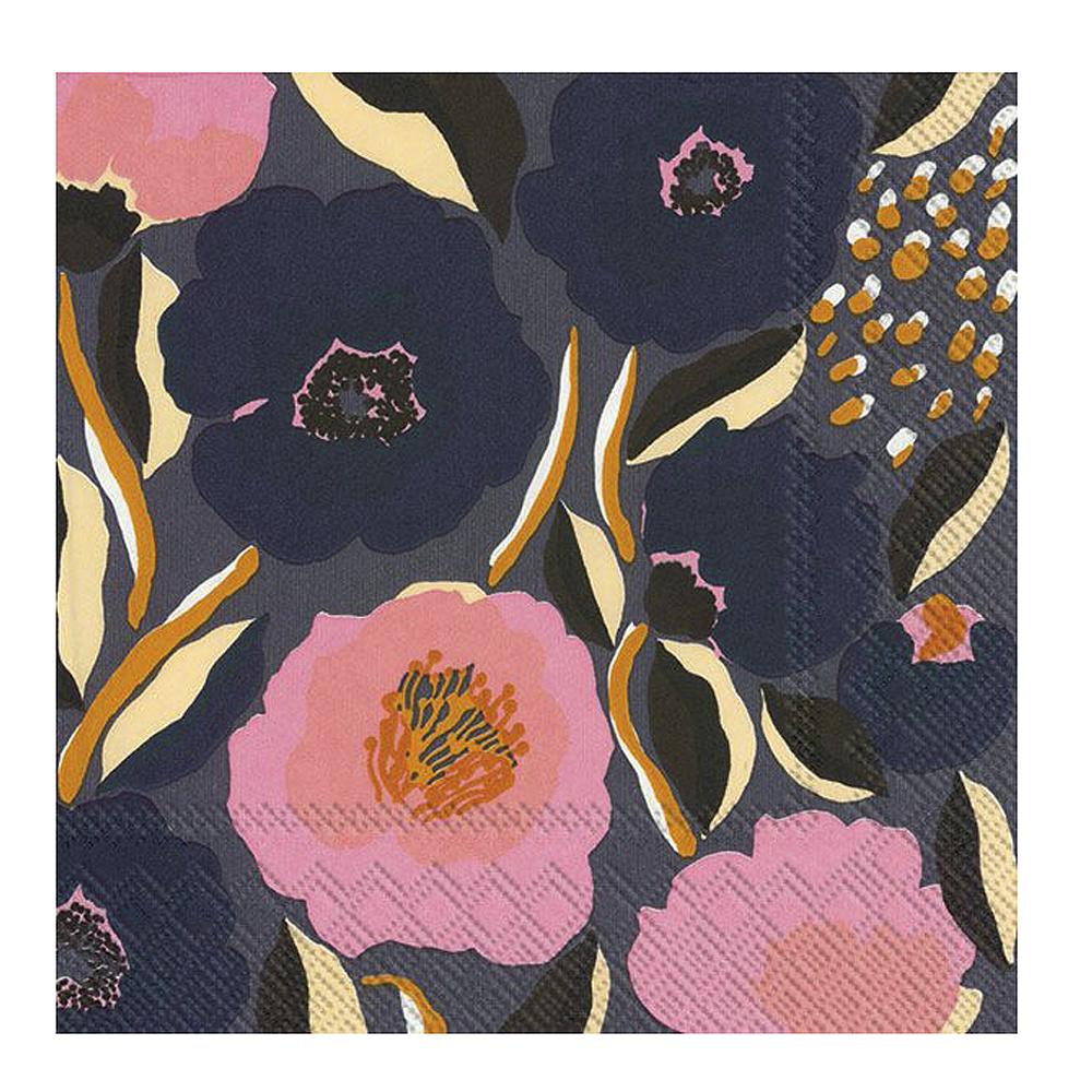 Servett Rosarium Blå/Rosa 33X33 cm