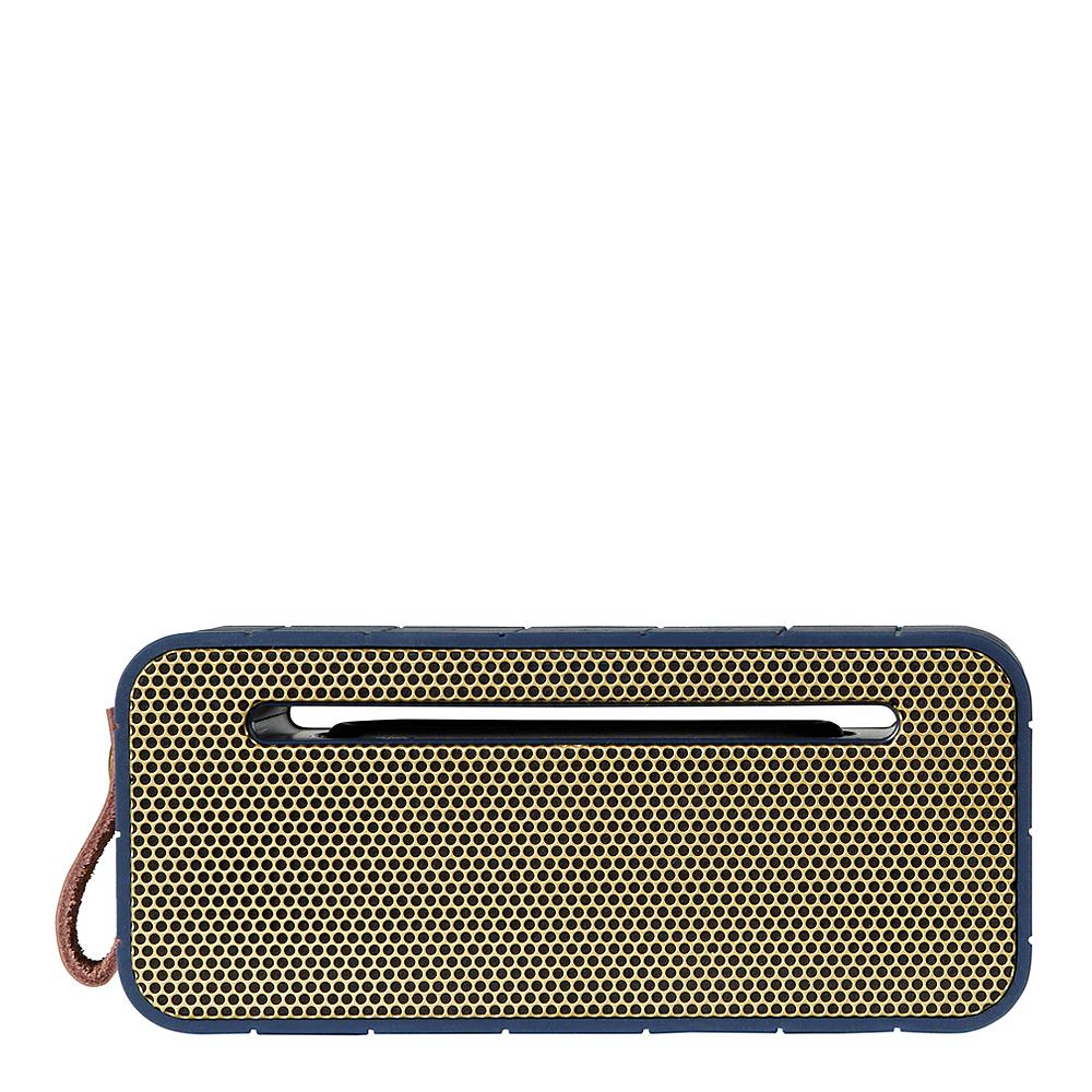 aMove Högtalare Bluetooth med Powerbank Blå/Guld