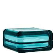 Vitriini Ask med lock 10,8 cm Havsblå