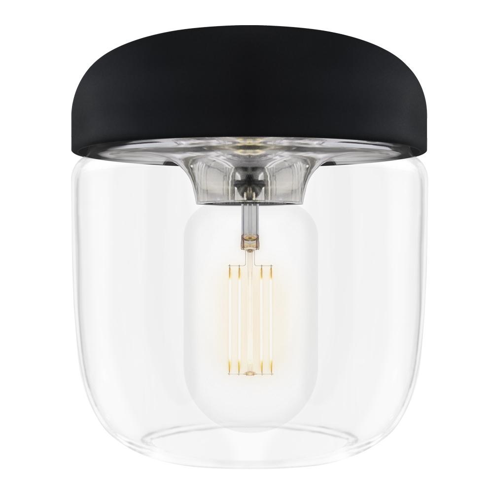 Acorn Lampskärm 14 cm Svart/Stål