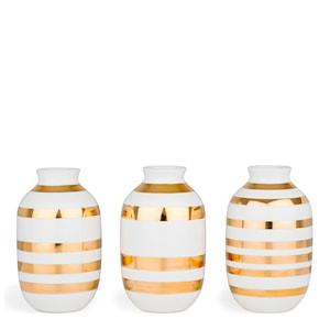 Omaggio Vas miniatyr 3-pack Guld