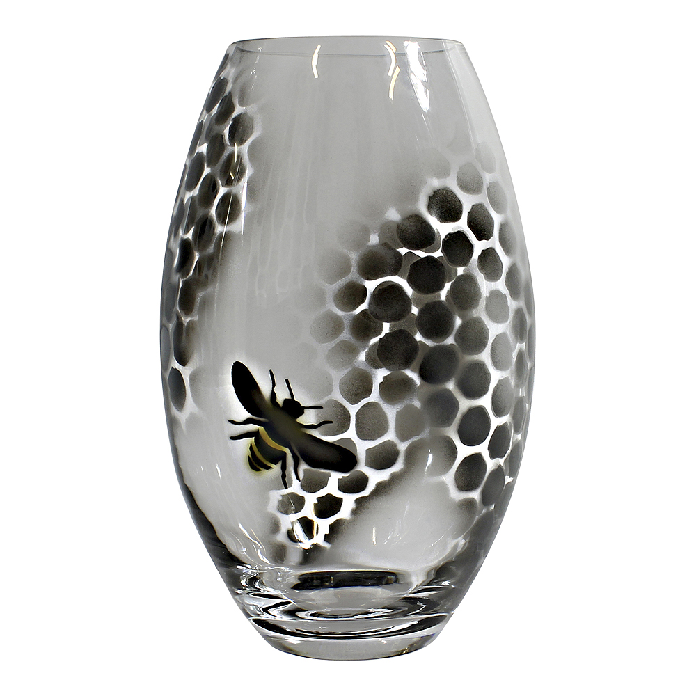Honeycomb Vas 26 cm Svart