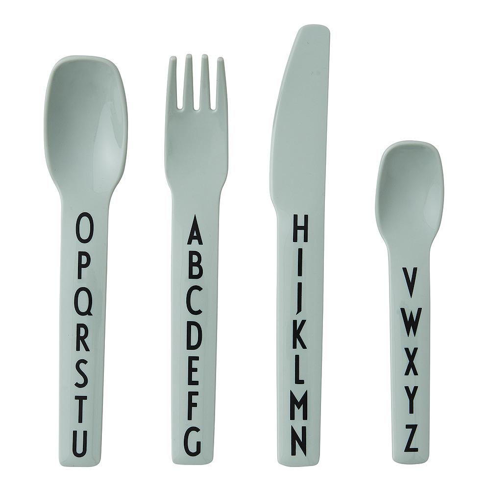 Eat & Learn Bestickset Grön