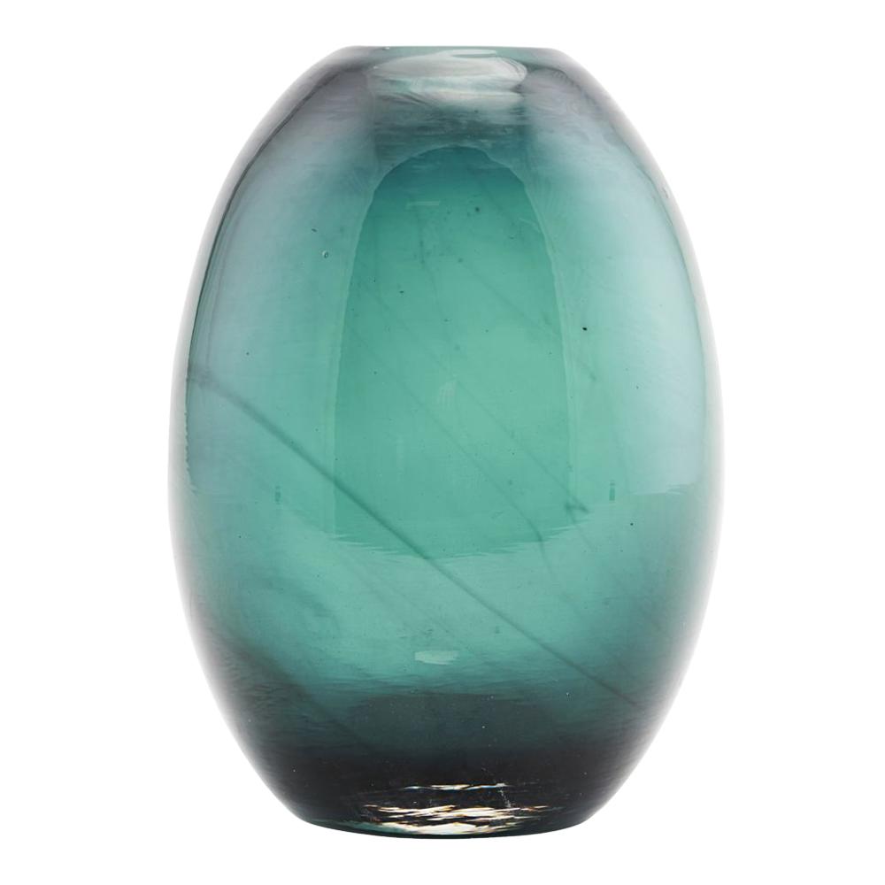 Ball Vas 10x15 cm Blågrön