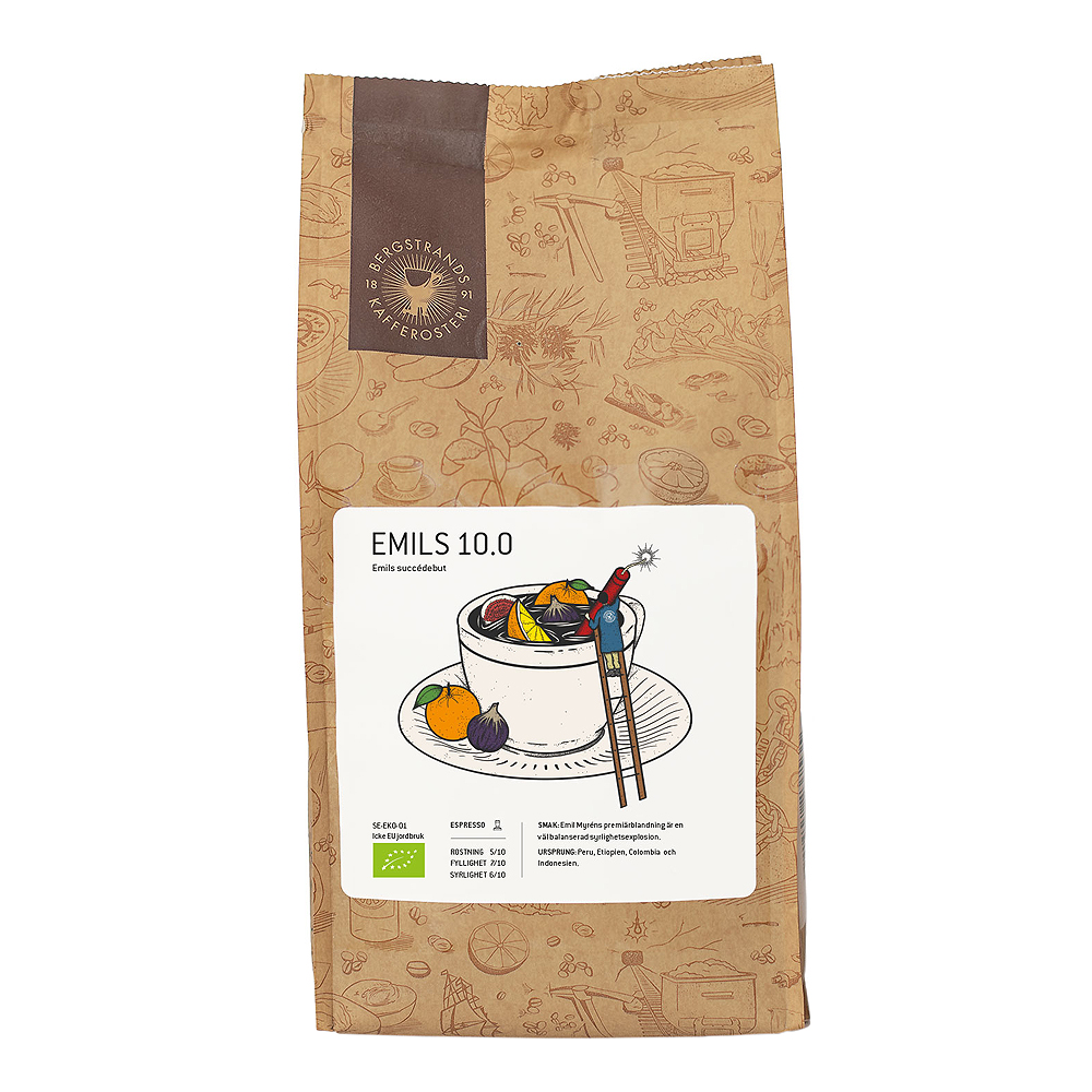 Espressobönor Emils 10.0 Eko 1 kg