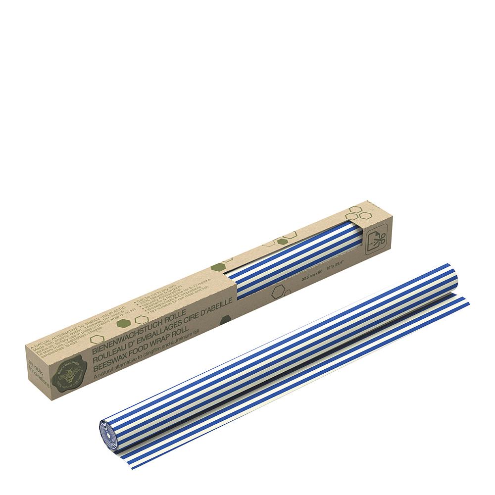 Bivaxduk Rulle Ränder 30×90 cm Blå
