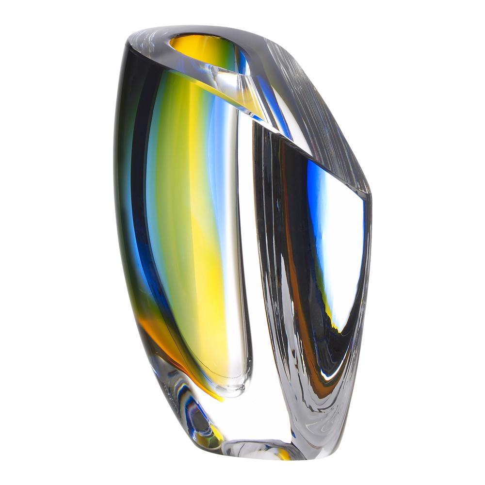 Mirage Vas 15,5 cm Blå/bärnsten