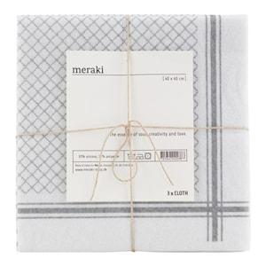 Home Disktrasa 40x40 cm 3-pack Grå/vit