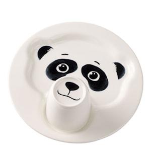 Animal Friends Barnservis 2 delar Panda