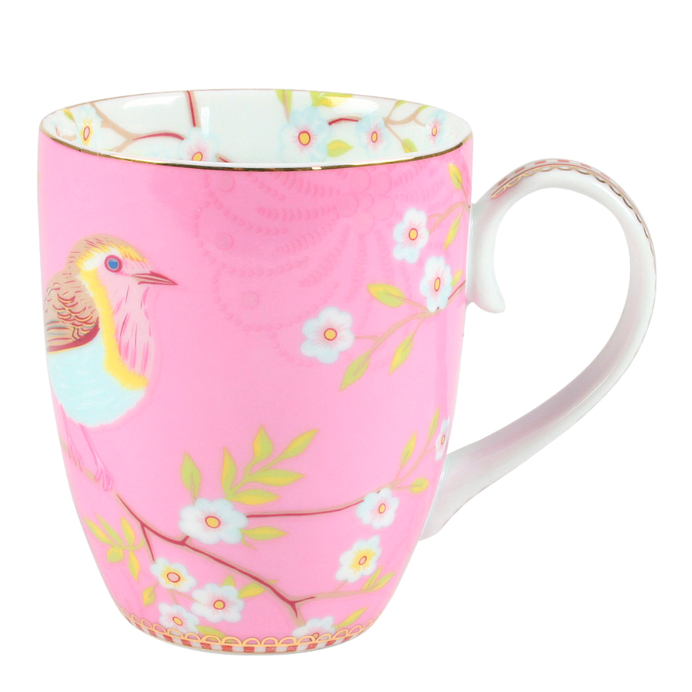 Floral Mugg stor Early Bird Rosa
