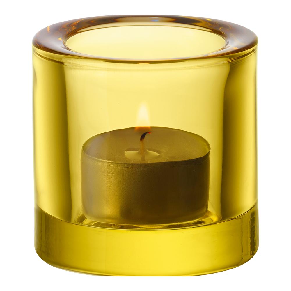 Kivi Ljuslykta 6 cm Citrongul